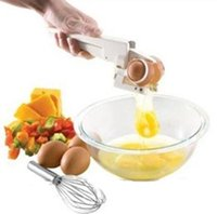 Wholesale Kitchen Gadgets Prices - new Factory Price Gadget EZ Cracker Egg Cracker Handheld York White Separator Separate egg Whites Kitchen Tool wn095