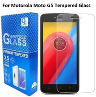 Wholesale Protector Moto X - For Motorola Moto G5 Tempered Glass Screen Protector For Moto G G2 G3 G4 G5 Plus G4 Play M X With Retail Package