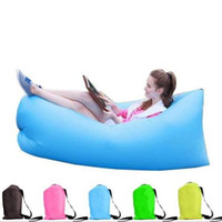 Wholesale DHL second Fast Inflatable Hangout Lounge laybed portable Inflatable Sleep bed