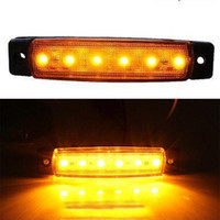 Wholesale Led Tail Lights Amber - 20 PCS Amber LED Side Marker Lights For Truck Trailer Bus Clearance Lamp 12V