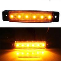 led-seitenlicht großhandel-20 STÜCKE Bernsteinfarbige LED-Seitenmarkierungsleuchten für LKW-Anhänger-Bus-Abstand-Lampe 12V