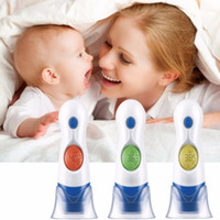 Wholesale Thermometer Home Baby - 4 In 1 LCD Digital Electronic Infrared Ear Thermometer Forehead For Baby Pet Toy Child Family Home Health Care HT-208