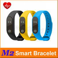 Wholesale Cheapest Kids Watches - Cheapest 50pcs M2 Sport bracelet smart wristband heart rate monitor bluetooth watch men & silicone waterproof smartband for Android IOS
