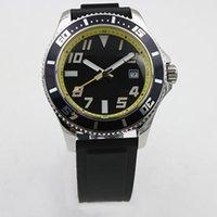Wholesale Superocean Strap - Mens Watch 1884 Chronometre Superocean Automatic Mechanical Men Watches Black Rubber Strap Men's Wristwatch