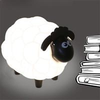 Wholesale Led Sheep Night Light - Cartoon Sheep Led Night Light Children Bedroom Desk Lamp Protect Eye Lamp Best Gifts For Children