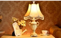 Wholesale Classical Study Table - European bedroom bedside table lamp postmodern creative style living room wedding lamp Free photo frame Free shipping