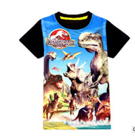 Wholesale Jurassic World dinosaur children boys t shirt summer baby kids boys tops tee t shirts for children boys clothes garments ages