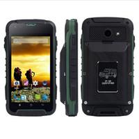 mtk6572 desbloqueo de doble núcleo al por mayor-Original Rugged Phone F605 4.5 pulgadas 12000mAh Big Battery MTK6572 Dual Core 3G Smartphone Dual SIM Impermeable Desbloquear teléfono