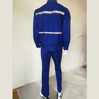 Stand Collar blue coveralls - Mens Work Clothing Long Sleeve Coveralls High Quality Overalls Worker Repairman Machine Auto Repair Electric Welding Absenteeism