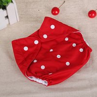 Wholesale Cotton Cloth Diapers Wholesale - Baby Diaper Cover One Size Cloth Diaper Waterproof Breathable PUL Reusable Diaper Covers pants for Baby Fit 0-24kg Free Shipping