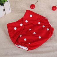 pañal transpirable al por mayor-Cubierta del pañal del bebé Un tamaño del pañal del paño Impermeable respirable PUL Pañal reutilizable cubre los pantalones para el ajuste del bebé 0-24kg Envío libre