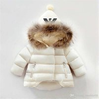 Wholesale Childrens Jackets Coats - AMN Brand Kids Coats Boys and Girls Winter Coats Childrens Hoodies Baby's Jackets Kids Outwear kids 2 colors 1-6T baby Hot Sold.