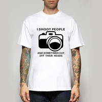 Wholesale Photography People - Wholesale- 2016 Fashion T Shirts I Shoot People T-shirts Funny Photographer Camera Photography Tshirts Casual Personalized New Design Tees