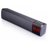 ingrosso prezzo mp3 giocatore digitale-S2028 Display LCD Display digitale Lungo Cuboid Wireless Bluetooth Speaker Stereo portatile TF TF USB Mp3 Music Player Prezzo all'ingrosso a buon mercato