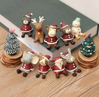 Wholesale Miniature Christmas Ornaments - Christmas Gifts Resin Crafts Santa ornaments Miniatures Figurines Decoration Sant Claus Tree Bear resin craft Toy Christmas Gift KKA3164