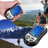 Wholesale Digital Altimeter Compass Thermometer Barometer - Digital LCD 8 In 1  Compass+Altimeter+Barometer+Thermometer+Weather Forecast+History+Clock+Calendar for Hiking Hunting