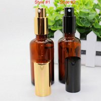 Wholesale Perfumes Low Prices - Lowest Price 30ml 50ml 100ml Empty Amber glass spray bottle perfume bottle 30ml With Black cap for essential oil bottle