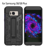 Wholesale Freely Stand - For Samsung Galaxy S8 Case Armor Hybrid Rugged Rubber Fundas For Samsung S8 Plus Hard Back Phone Cover Stand & holder Freely Shipping