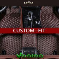 Veeleo Custom-Fit 6 Colors Car Floor Mats for Audi A1 A3 A4 B8 B7 B6 B5 A6 C6 C7 A8 A8L Q3 Q5 Q7 Waterproof 3D Car Mats