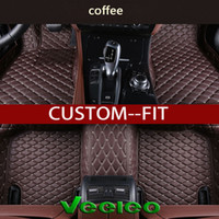 Wholesale Fitted Floor Mats - Veeleo+ Custom Fit -6 Colors Leather Car Floor Mats for Audi A1 A3 A4 B8 B7 B6 B5 A6 C6 C7 A8 A8L Q3 Q5 Q7 Series Waterproof 3D Car Mats