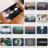 Wholesale Live Corals Wholesale - 60x40cm Home & Living Coral Geometric Pattern Painting Front Door Mat Bath Mats Welcome Door Mat for Home or Bathroom