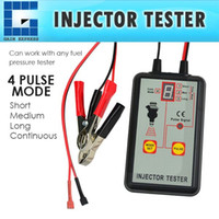 Wholesale Fuel Injection Cars - E04-039 Digital Automotive Fuel Pressure Injection Pump Injector Tester 12V Car Vehicle Quality Diagnostic Tool 4 Modes