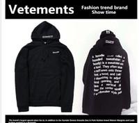 Wholesale reversible hoodies - Wholesale-2016 streetwear urban clothing kpop clothes kanye west box logo hoodie 3in 1 Vetements polizei twisted reversible hoodies top