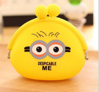 Wholesale Despicable Pouch - cartoon Minions coin purse Kawaii Despicable ME Yellow Minions Coin Purses Wallet Pouch Case bag kids gift bag