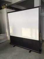 Wholesale 16 inch Diagonal Portable Mini Floor Standing Projector Screen Foldable Projector Screen Hot Sale Products