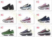 Wholesale Leather Shoes Nude Colour - New Colour AIR 95 OG PREM Running Shoes Flat Shoes With Low Air Cushion Shoes Women Professional Help Breathable Running