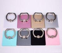 option telefon großhandel-Verkauf von Telefon-Stent Anti-Diebstahl-360-Grad-Drehung Option Super-Qualität Komfort Faul Ring Schnalle Halterung Universal Metal Creative Bracket