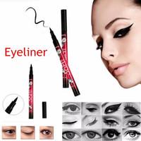 ingrosso 12 set di penne eyeliner-YANQINA 36H Matita per eyeliner per trucco Penna per eyeliner per trucco nera impermeabile Senza precisione di fioritura Eyeliner liquido 12 pezzi / set 300 pezzi OOA2260