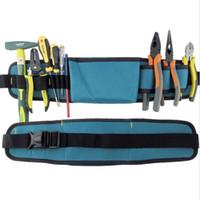 kit eletricista venda por atacado-Multifuncional Ferramenta Saco Eletricista Oxford À Prova D 'Água Kit de Ferramentas Bolsos de Cintura Herramientas Para Eletricistas Tipo B
