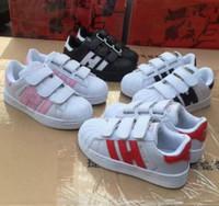 appartements d'enfants achat en gros de-VENTE CHAUDE NEW STAN SMITH SNEAKERS CASUAL CUIR Chaussures pour enfants SPORTS JOGGING SHOES chaussures pour enfants SUPERSTAR CLASSIQUE pour enfants