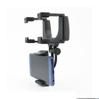 Wholesale iphone rearview mirror mount - For Iphone Samsung LG HUAWEI ZTE Cellphone Universal Holder 2017 Car mobile holder Car Rearview Mirror Mount Holder Stand Cradle