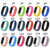 u8 saat bantları toptan satış-18 renk 2018 Yeni Fitbit Için Silikon Watch band Bilezik Bilek Kayışı Alta Akıllı İzle Yok Tracker L / S boyutu Pk DZ09 U8