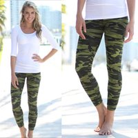 Wholesale Camouflage Leggings Wholesale - Wholesale- Fashion Womens Sexy Camo Camouflage Stretch Trousers Army Green Pants Leggings
