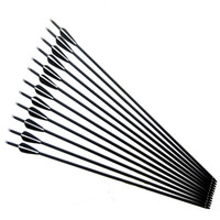 Wholesale Shot Target - 12pcs lot Replaceable 31.5 inch Spine 500 Carbon Arrow for Compound & Recurve Bow Hunting and Archery Shooting Target