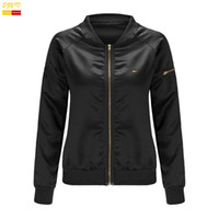 Wholesale New Spring Clothes For Women - Wholesale- Szyid brand new women clothing jackets light color cotton O-neck solid for spring casual zipper embroidery coats J0001