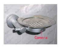 Wholesale Steel Spy - free shipping HD Bathroom Spy Camera Stainless steel Soap Box Camera DVR 16GB 1280x720 5.0 Mega Pixel