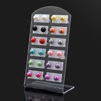black pearls earings - 12 Pairs Earrings Resin Imitation Pearls Stud Earring Colorful Bll Earings Red Green Pink Fashion Jewelry Earrings For Women