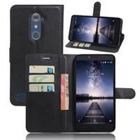 Wholesale Cheap Flip Phones Cases - For ZTE Zmax Pro Cases Cover Cheap Z981 Wallet Case Leather Skin Flip Shell Protective Phone Bags For ZTE Zmax Pro Z981 case