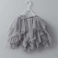 Wholesale Wholesale Tulle Skirt - Baby Girls Tulle Tutu Skirt 2017 Summer Kids Girl Irregular Skirt Baby Fashion Short Dress Children Clothing Wholesale S575