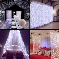 Wholesale Outdoor Decorative Lights For Christmas - NEW 3M x 3M 300 LED Outdoor Home Christmas Decorative xmas String Fairy Curtain Garlands Strip Party Lights For Wedding