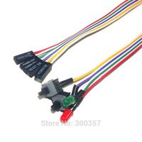 кабель для кабеля pc оптовых-Wholesale- Desktop Computer PC Case Power cable SW switch Re-starting switch Power Reset HDD LED + 2 Switch Cable Connector Adapter