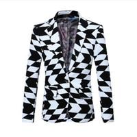 Wholesale Men S Suits Plaid - New arrival high quality famous brand plaid casual blazer Business suit jacket size S,M,L,XL,XXL,XXXL,XXXXL,5XL