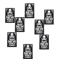 arrefecer remendos venda por atacado-10 pcs Crachás Do Punk Crânio cool patches para roupas de ferro bordado patch applique ferro em remendos hot acessórios de costura para DIY