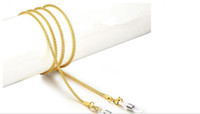 cuerda de oro al por mayor-oro destiñen antideslizantes gafas de sol ReadingGlasses sujeción del cable de cuello cuerda cadena silicio bucle plata inoxidable 2017 HOT venta de moda