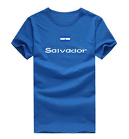 Wholesale Great White Short - Salvador T shirt Great honors sport short sleeve Athletic meeting tees Nation flag clothing Unisex cotton Tshirt