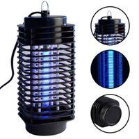 lampara electronica asesinos mosquitos al por mayor-Electronic Mosquito Killer, Electronic Insect Killer Bug Zapper Trampa Fotocatalizador Fly Zapper UV Night light Trap Lamp 110V 220V